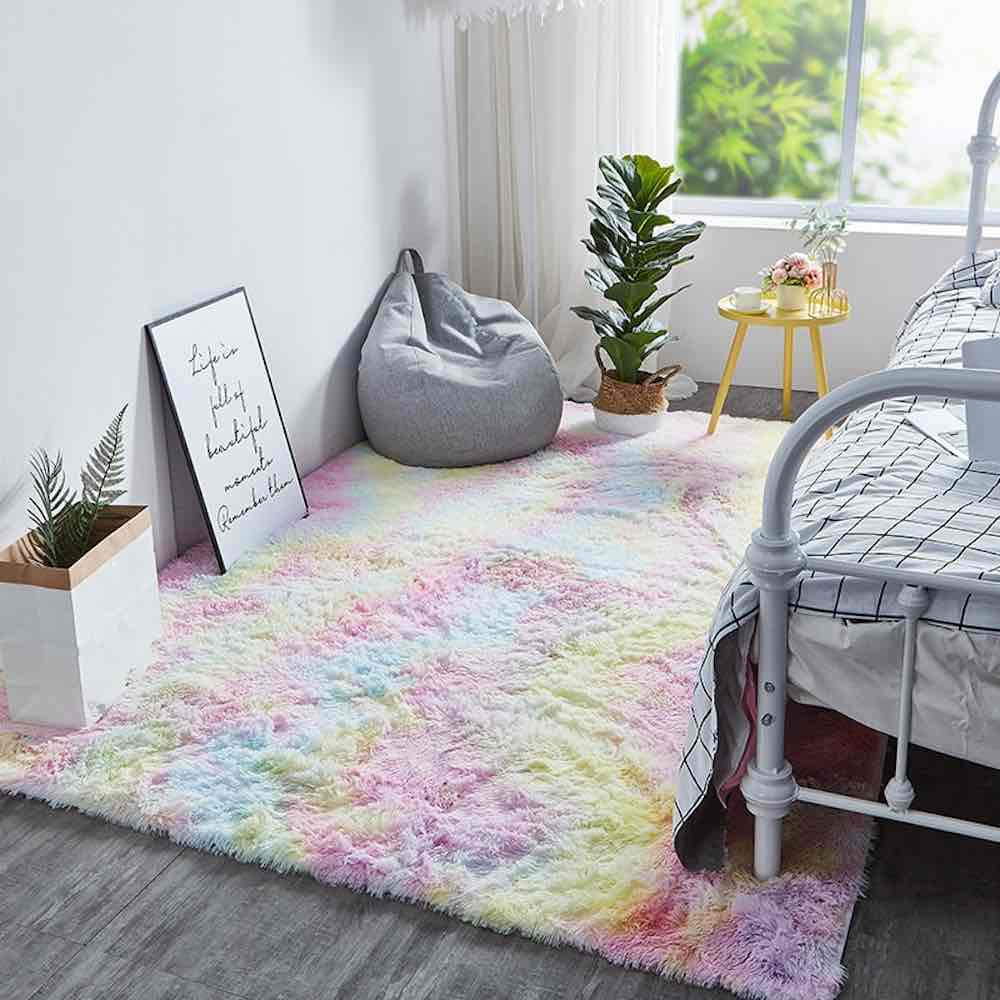 rainbow rug for bedroom